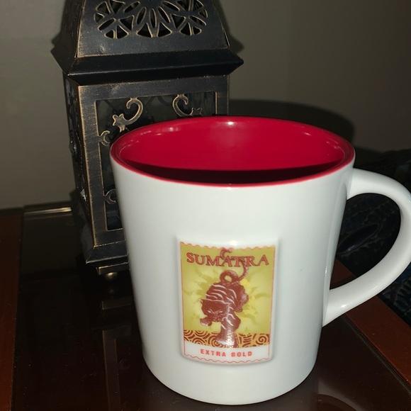 "Starbucks 2006 Sumatra coffee mug 16oz 4""x4"""